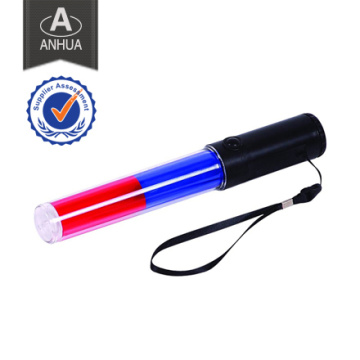 Rote und blaue Polizei Ledtraffic Baton