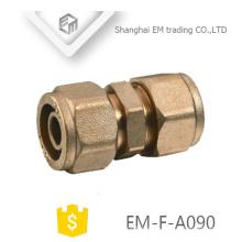 EM-F-A090 Messingkompressionsverbindungsrohrfitting