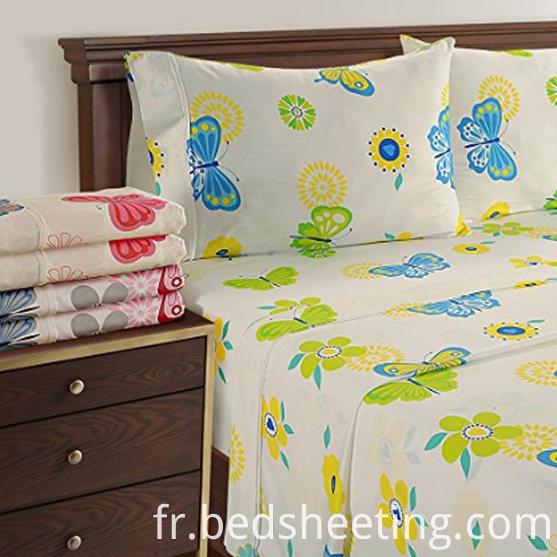 Organic Cotton Sateen Sheets With Butterfly