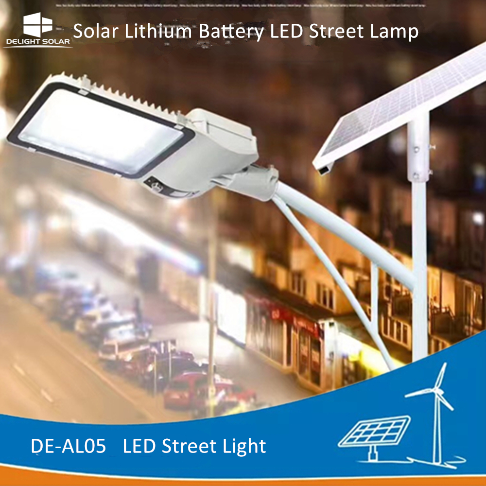 DELIGHT DE-AL05 Parking Lithium Battery LED Road Light