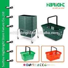 Различные металлические корзины для покупок