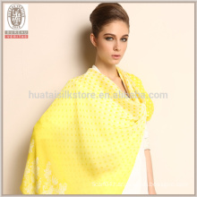 Pure Printed Long Soft High Quality Silk Chiffon Scarf