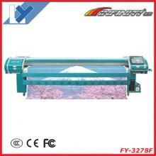 Máquina de impressão digital Fy-3278f para banner, vinil, malha, one-way-vision, todos os materiais de publicidade exterior