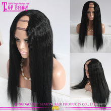 Meilleure vente produits partie de u prix de gros cheveux humains brésiliens wig yaki pour femmes noires