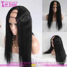 Best selling products wholesale price brazilian human hair u part wig yaki for black women