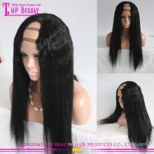 Best-seller produtos parte de u de cabelo humano brasileiro de preço por atacado peruca yaki para mulheres negras