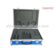 instrumento de alumínio forte e portátil maleta com fabricante de inserção de espuma personalizado