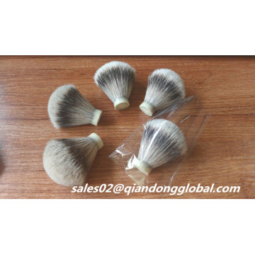 Soft Backbone 18mm Silvertip Badger Hair Knot