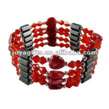 """Magnetische rote Herzpackung Armbänder u. Halskette 36 """""""