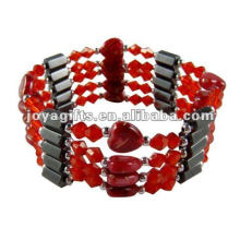 Magnetic Red Heart wrap Bracelets & Necklace 36""