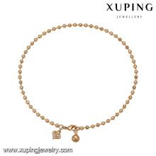 74771 Xuping trabalho de jóias de imitação de casa popular pulseira de contas de ouro China atacado