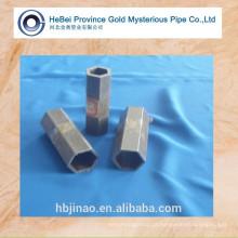 Superfície lustrosa tubo de aço hexagonal sem costura e tubo de aço hexagonal