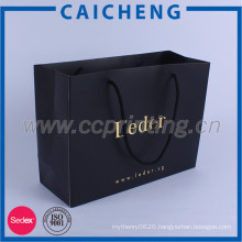 Embossing and logo gold foil custom printed high quality paper bag