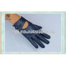 2014 al por mayor señoras azul marino guantes de cuero