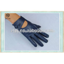 2014 wholesale ladies navy blue leather gloves