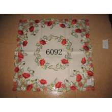 6092 Red Color Embroidery Table Covers