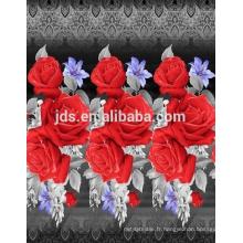 Fleurs 3D design tissu imprimé