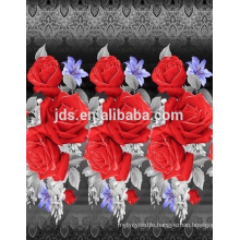 3D flowers design printed fabric