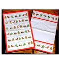 christmas custom tea towel printing