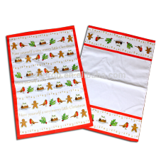 christmas custom tea towel printing