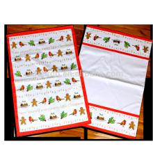 рождественская печать чайных полотенец на заказ