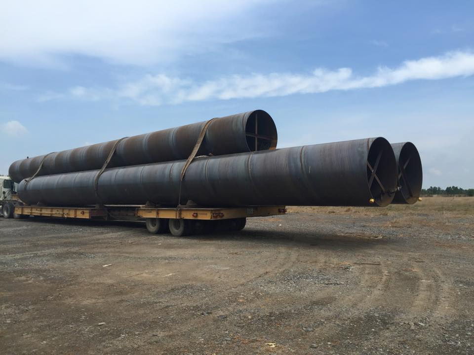 3PE COATING SPIRAL STEEL PIPE FOR HOT WATER