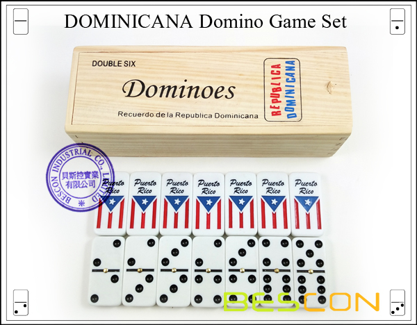 DOMINICANA Domino Game Set