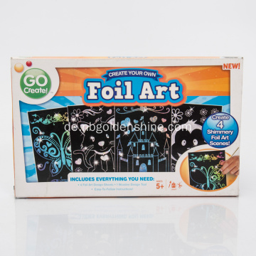 Foil Holographic Magic Scratch Poster Art
