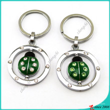 Enamel Animal Ladybug Charms Metal Key Ring Wholesale (KR16041913)