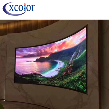 High Quality Indoor P4 Curved Led Tv Screen
