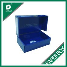 Caixa de papel presente azul completa de primeira classe
