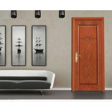 Puerta de madera del dormitorio del MDF Puerta del comedor, puerta simple del diseño, puertas de encargo de la fábrica