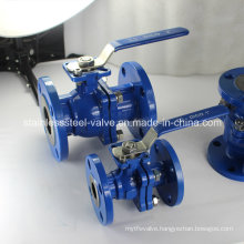 Investing Casting Carbon Steel Ball Valve with Locking Handle