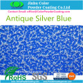 Antique Silver Blue Pulverlackering Paint