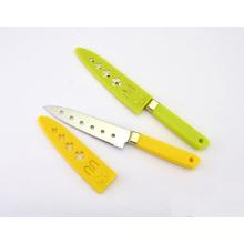 Cuchillos para uso general de acero inoxidable con mango plástico, cuchillos Sashimi, cuchillos para pelar con 6 orificios y funda