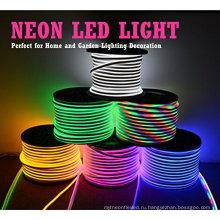 Переменного тока 110-220V гибкий Неон RGB светодиодные полосы света, 60 светодиодов/М, Водонепроницаемый, Multi Цвет изменяя СИД 5050 SMD свет веревочки