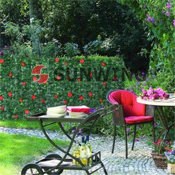 Clôture artificielle couvrant en plastique Synthétique haie de jardin décoration Nous acceptons également OEM, livraison rapide et assurance qualité.