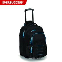 Sac à dos d'affaires détachableTrolley de grand compartiment, sac à dos d'école de chariot d'adolescent (ESV248)