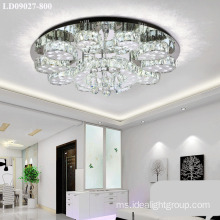 jualan panas chandelier chrome crystal lamp dengan remote