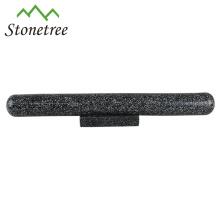 Rodillo de piedra de mármol pulido con soporte
