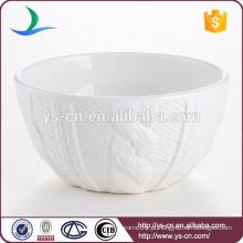 China tigela de salada de cerâmica branca