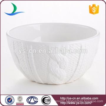 China white ceramic salad bowl