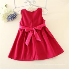 moda 2015 mais recente projeto outono rosa flor crianças vestido