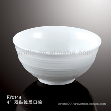 "hotel&restaurant 4"" double line ceramic bowl, dinner set"