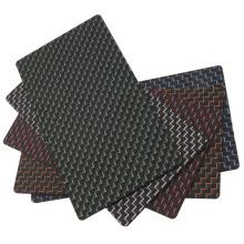Folha de fibra de carbono de 3k coloridas
