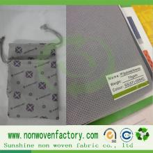 Tela no tejida de polipropileno para hacer bolsas
