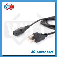 UL CUL 3 pines Canadá estándar de cables de alimentación de televisión