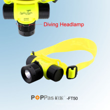Wasserdicht Ipx8 150lm 3W CREE XP-E R2 Tauch-LED-Scheinwerfer (POPPAS-FT50)