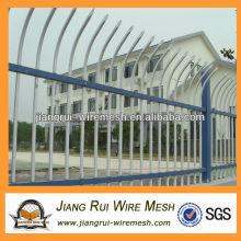 Decorativo pvc revestido de zinco guardrail cerca de aço (fabricante da China)