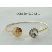 Simple Open Bracelet with Gems